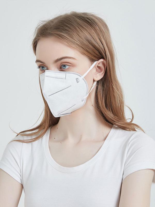 Ochronna maska, półmaska FFP2 (N95), czterowarstwowa, Certyfikat CE. Cena za 2 sztuki.