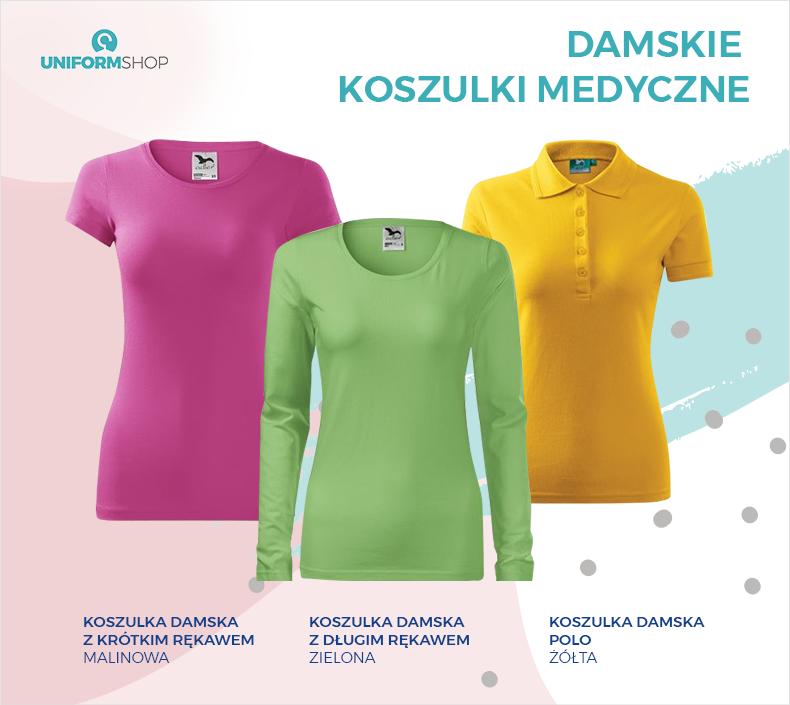 Damskie koszulki medyczne