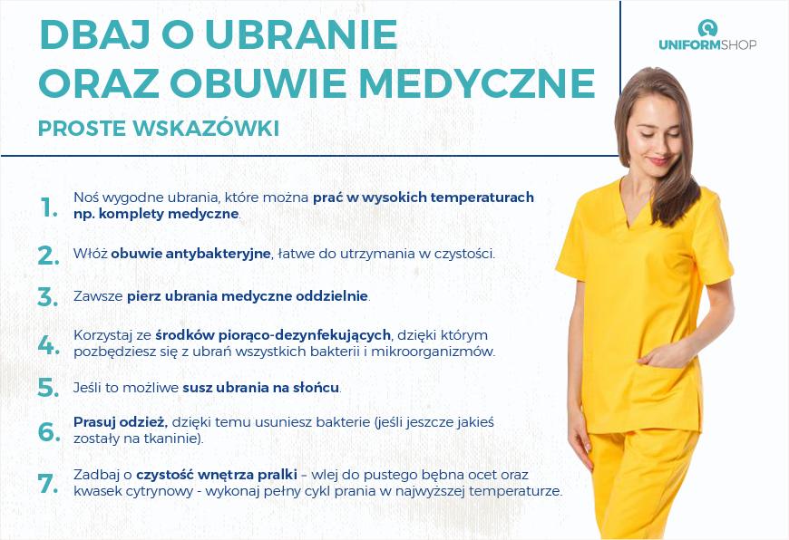 Dbaj o ubranie i obuwie medyczne