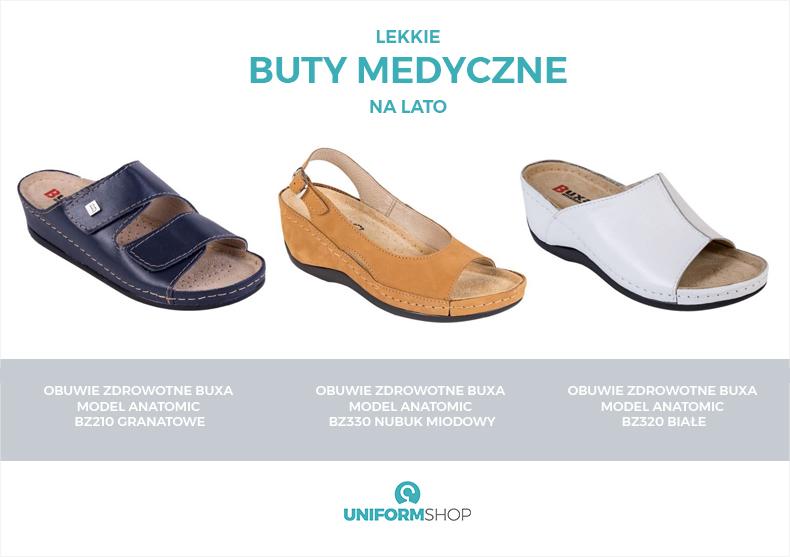 Lekkie buty medyczne na lato