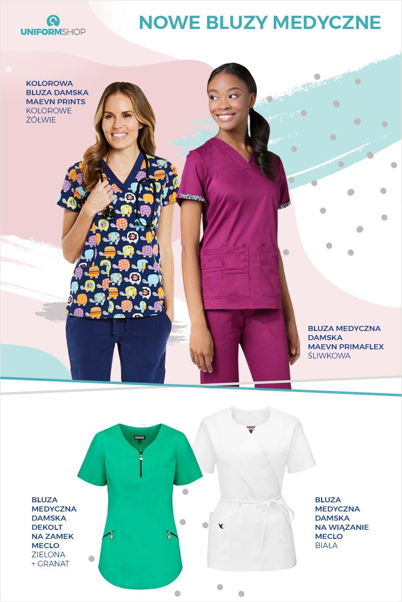 Nowe bluzy medyczne