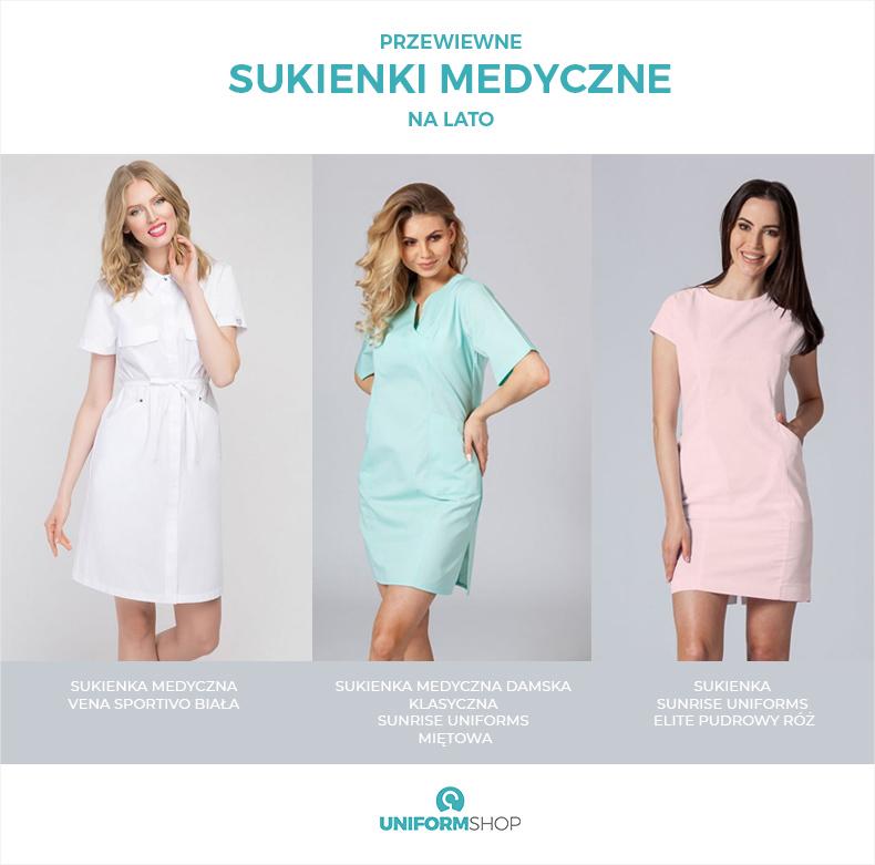 Przewiewne sukienki medyczne na lato