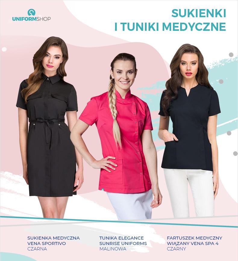 Sukienki i tuniki medyczne