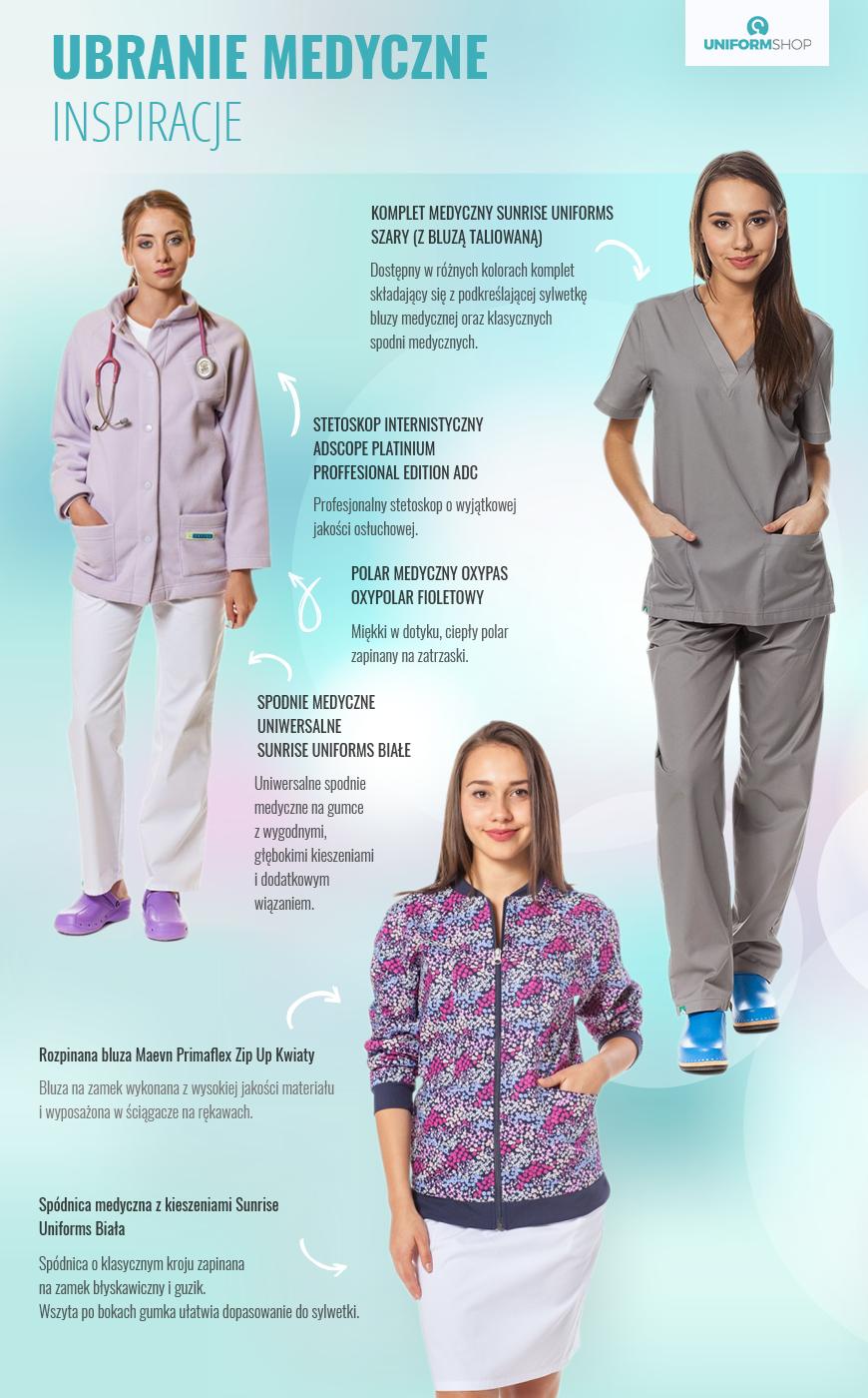 Ubrania medyczne na nocną zmianę